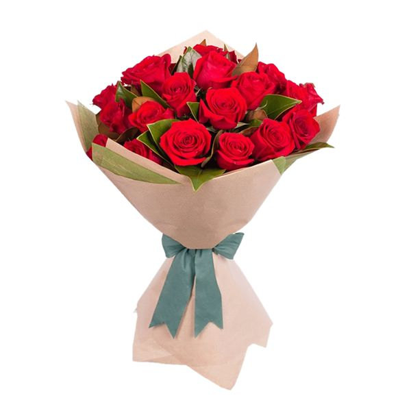 20 Red Roses Bouquet Resim 1