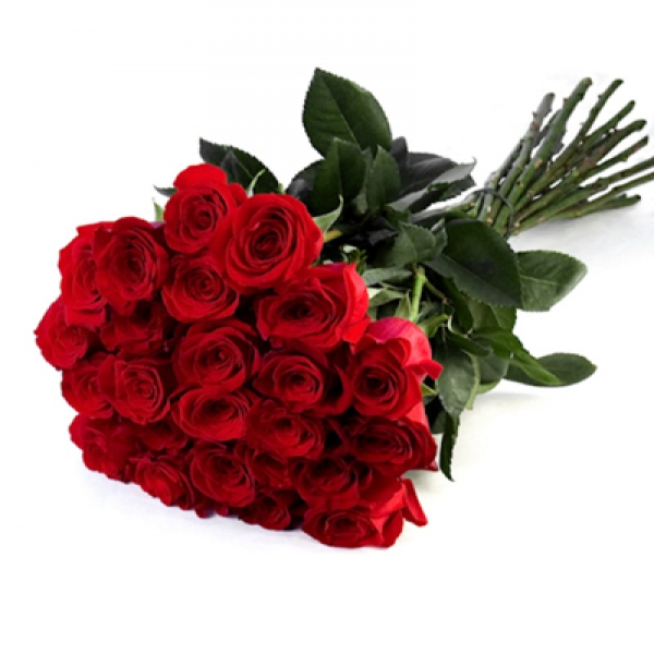 25 red roses bouquet Resim 1